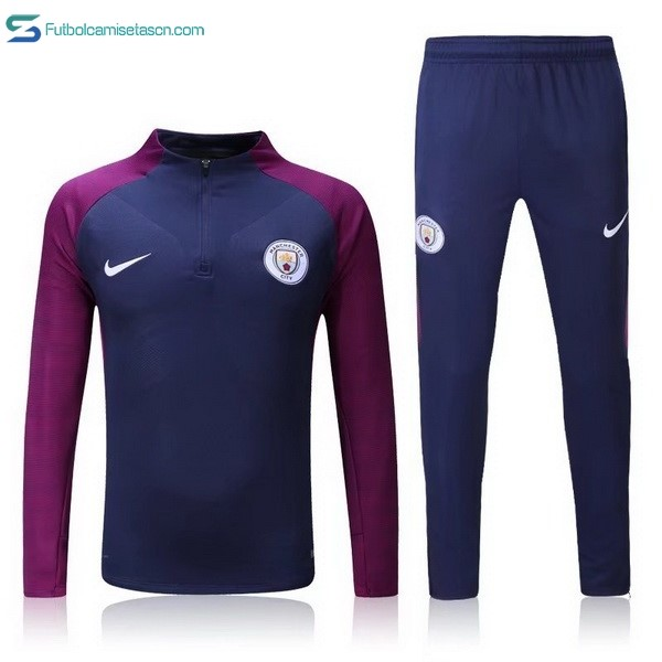 Chandal Manchester City Niños 2017/18 Azul Purpura