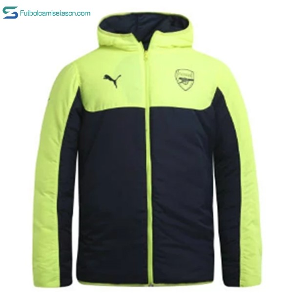 Chaqueta Arsenal 2017/18 Down Negro Verde