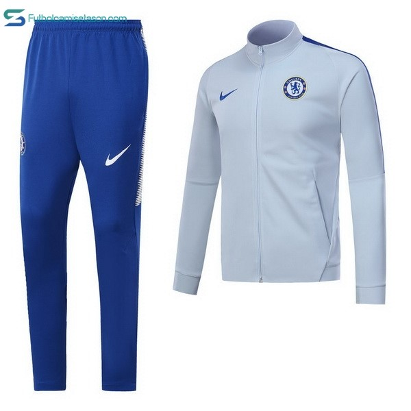 Chandal Chelsea 2017/18 Gris Claro Azul