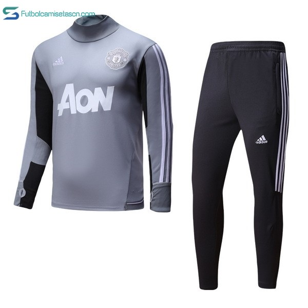 Chandal Manchester United 2017/18 Gris Claro Negro