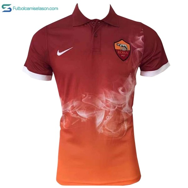 Polo AS Roma 2017/18 Naranja