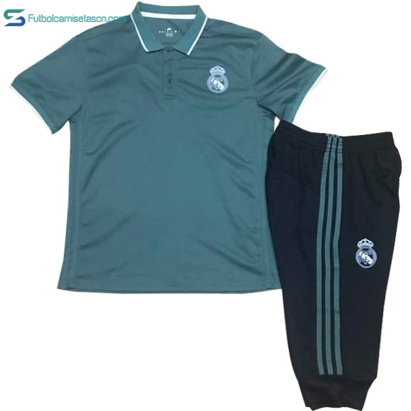 Polo Real Madrid Conjunto Completo 2017/18 Verde