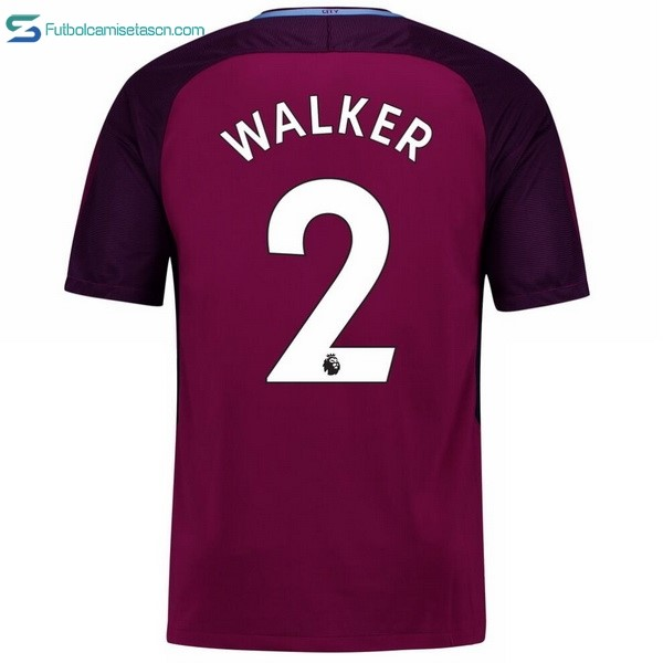 Camiseta Manchester City 2ª Walker 2017/18