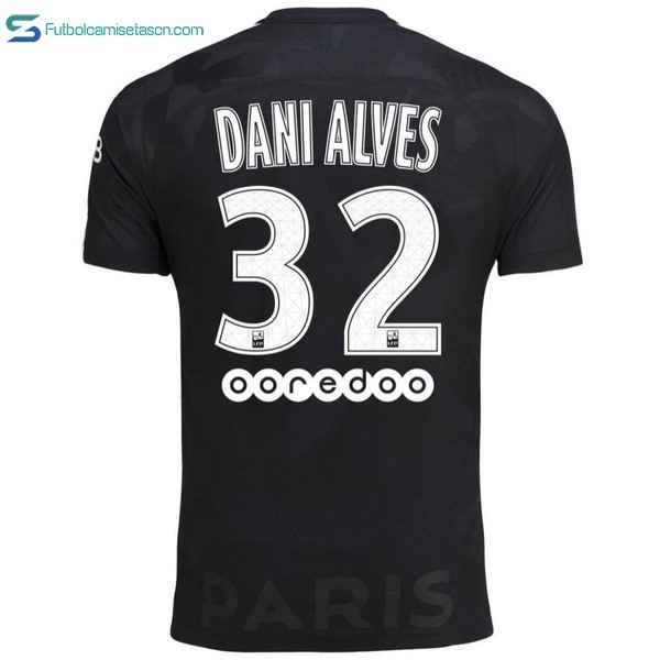 Camiseta Paris Saint Germain Alves 3ª Dani 2017/18
