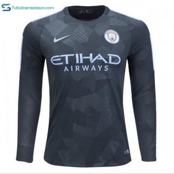 Camiseta Manchester City 3ª ML 2017/18