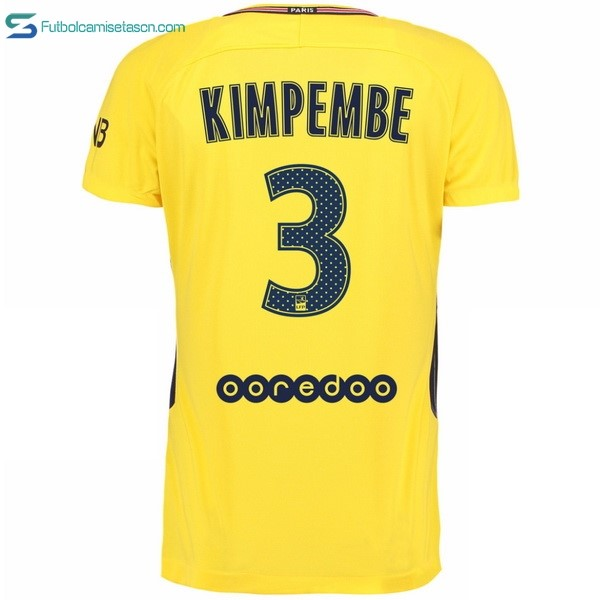 Camiseta Paris Saint Germain 2ª Kimpembe 2017/18