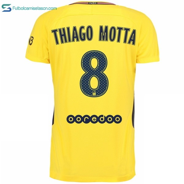 Camiseta Paris Saint Germain 2ª Thiago Motta 2017/18