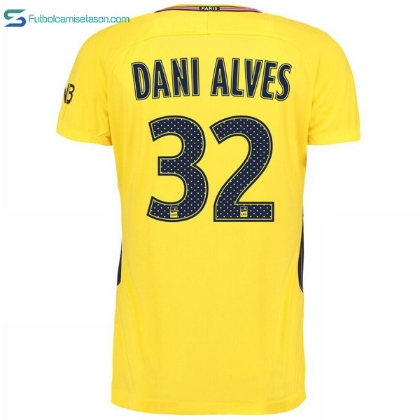 Camiseta Paris Saint Germain Alves 2ª Dani 2017/18