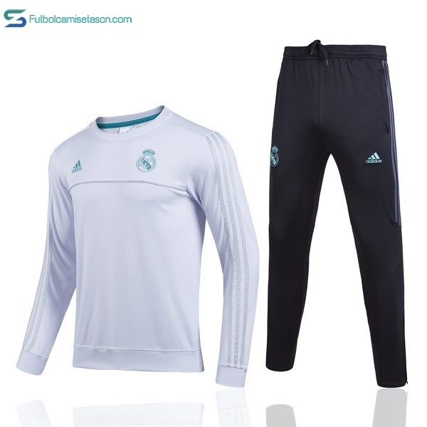 Chandal Real Madrid Niños 2017/18 Blanco Verde