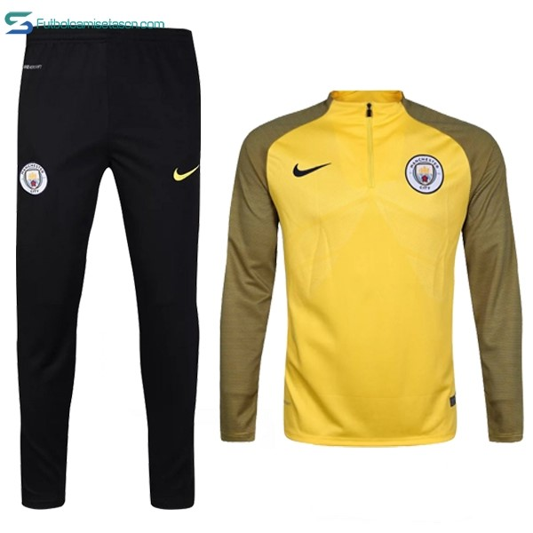 Chandal Manchester City 2017/18 Amarillo Negro