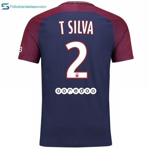 Camiseta Paris Saint Germain 1ª T Silva 2017/18