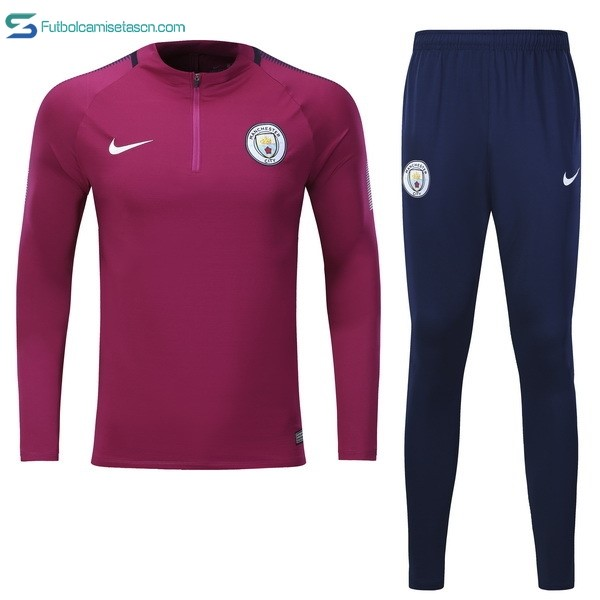 Chandal Manchester City Niños 2017/18 Purpura Azul