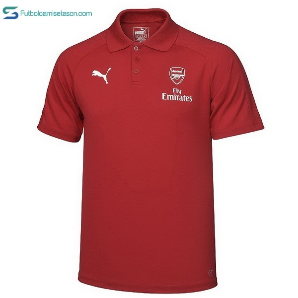 Polo Arsenal 2017/18 Rojo