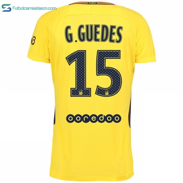 Camiseta Paris Saint Germain 2ª G Guedes 2017/18