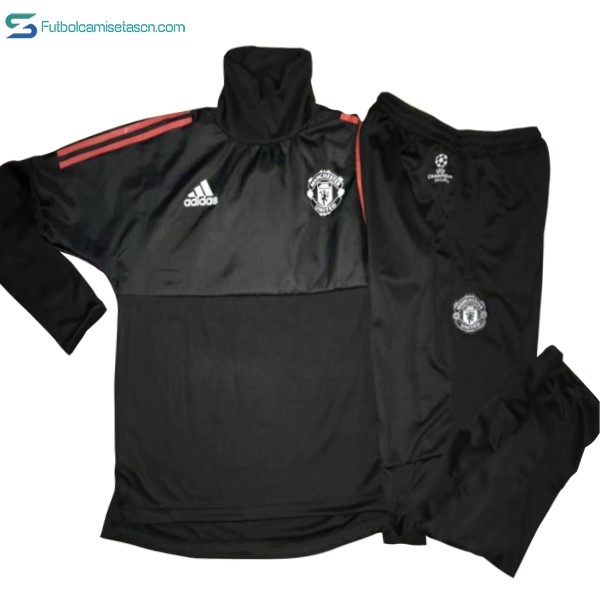 Chandal Manchester United Niños 2017/18 Negro