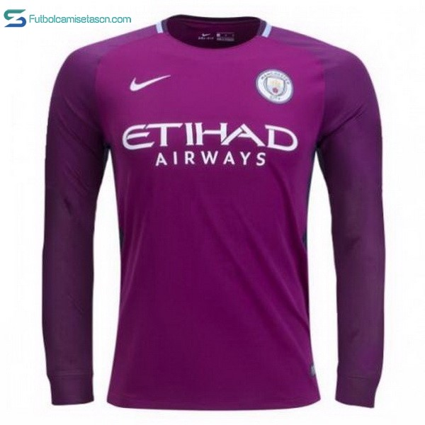 Camiseta Manchester City 2ª ML 2017/18