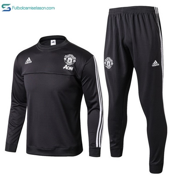 Chandal Manchester United 2017/18 Negro Blanco