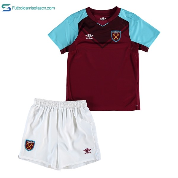 Camiseta West Ham United Niños 1ª 2017/18