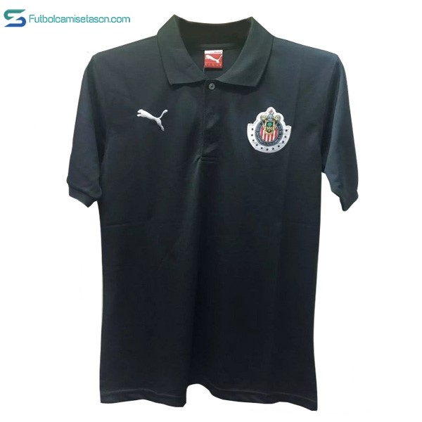 Polo CD Guadalajara 2017/18 Negro