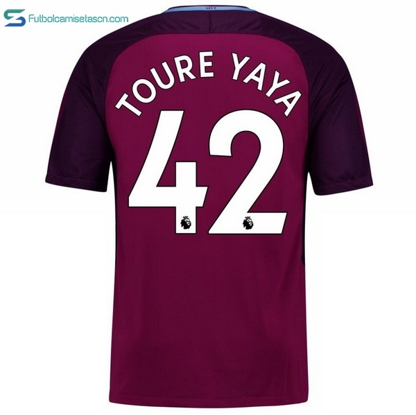 Camiseta Manchester City 2ª Toure Yaya 2017/18