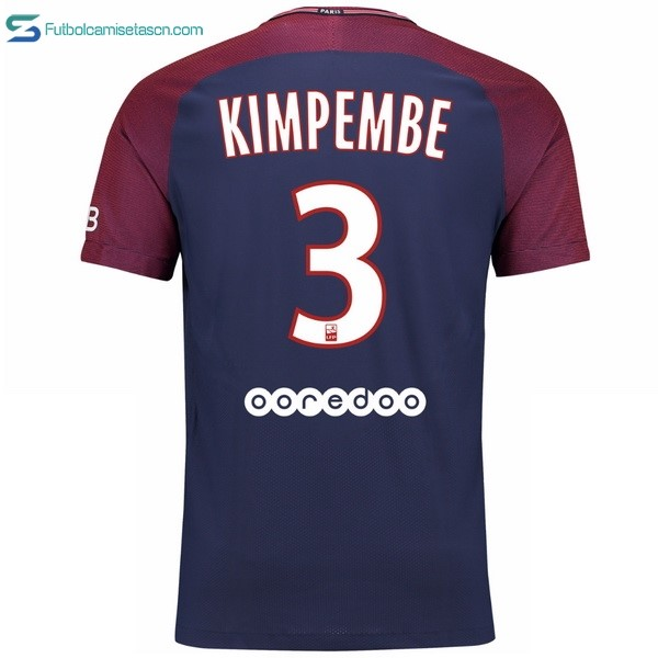 Camiseta Paris Saint Germain 1ª Kimpembe 2017/18