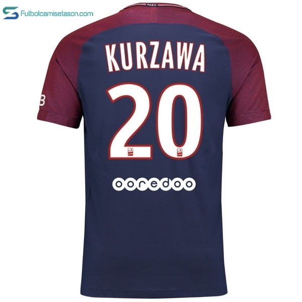 Camiseta Paris Saint Germain 1ª Kurzawa 2017/18