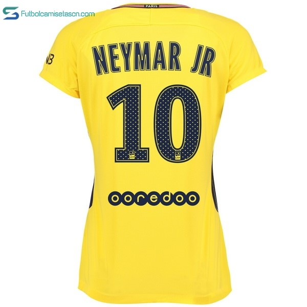 Camiseta Paris Saint Germain Mujer 2ª Neymar JR 2017/18