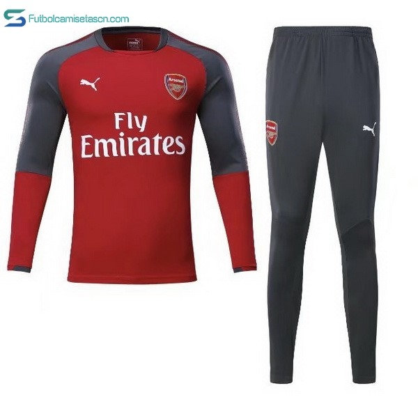 Chandal Arsenal 2017/18 Rojo Gris Marino
