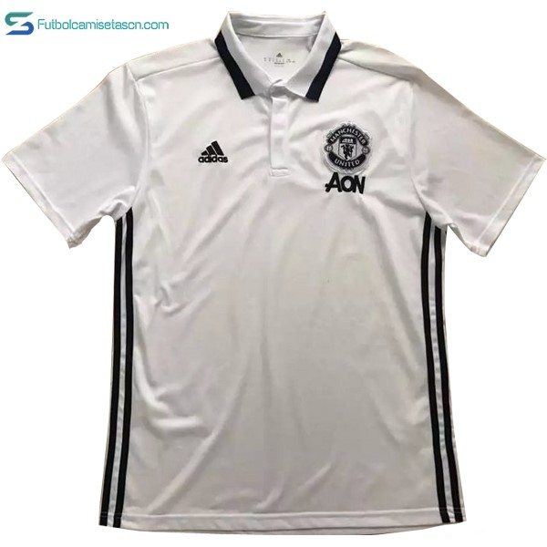 Polo Manchester United 2017/18 Blanco