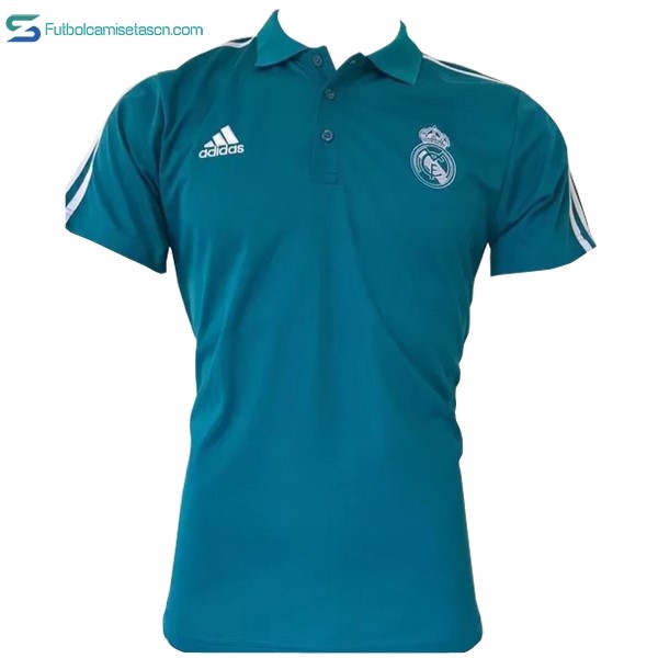 Polo Real Madrid 2017/18 Blanco Azul